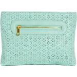 ASOS Zip Top Clutch Bag With Laser Cut