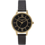Topshop **Olivia Burton Wonderland Black and Gold Watch