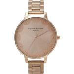 Topshop **Olivia Burton Scalloped Edge Rose Gold Bracelet Watch