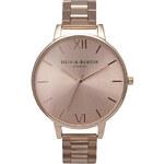Topshop **Olivia Burton Big Dial Rose Gold Bracelet Watch