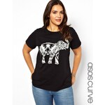 ASOS CURVE Exclusive T-Shirt With Elephant Print