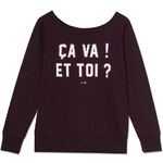 Tally Weijl Berry French Slogan Print Sweater