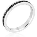 LYRA Prsten s černými Swarovski krystaly R01147R-V03