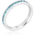 LYRA Prsten s modrými Swarovski krystaly R01147R-V32