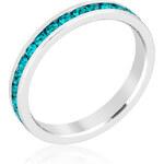 LYRA Prsten s modrými Swarovski krystaly R01147R-V39
