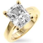 LYRA Prsten s čirým Zirkonem R07395G-C01