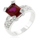 LYRA Prsten s červeným Zirkonem R07464R-C10