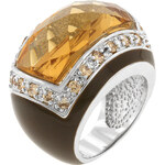 LYRA Prsten s champagne Zirkonem R08052R-V01