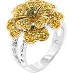 LYRA Prsten s olivovým Zirkonem R08071T-V01