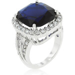 LYRA Prsten s modrým Zirkonem R08156R-C30