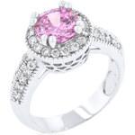 LYRA Prsten s růžovým Zirkonem R08226R-C12