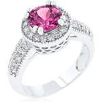 LYRA Prsten s růžovým Zirkonem R08226R-C15