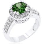 LYRA Prsten se zeleným Zirkonem R08226R-C40