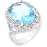 LYRA Prsten s modrým Zirkonem R08288R-C32