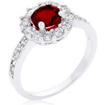 LYRA Prsten s červeným Zirkonem R08347R-C13