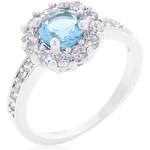 LYRA Prsten s modrým Zirkonem R08347R-C31