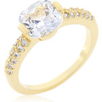 LYRA Prsten s čirým Zirkonem R08349G-C01
