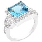 LYRA Prsten s modrým Zirkonem R08352R-C32