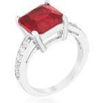 LYRA Prsten s červeným Zirkonem R08363R-C10