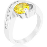 LYRA Prsten se žlutým Zirkonem R08365R-C61