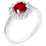 LYRA Prsten s červeným Zirkonem R08347R-C10