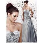 stříbrné společenské šaty Tamara