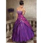 plesové šaty na maturitní ples fialové S