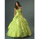 luxusní plesové zelené maturitní šaty Lime M-L