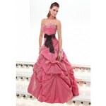 růžové plesové šaty Agnes 3