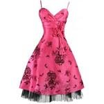 Sofia koktejlky krátké růžové společenské šaty S-M a M-L