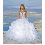extra luxusní bílé svatební šaty Claudia M-L