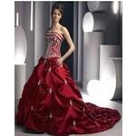 rudé plesové nebo svatební šaty Viola M-L