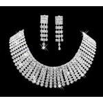 luxusní štrasová souprava Deron - náhrdelník, náušnice