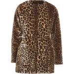 TFNC Luxusní kožich s leopardím vzorem