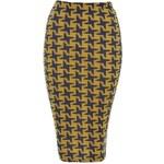 TFNC Sukně se žluto-modrým vzorem kohoutí stopy