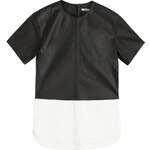 T by Alexander Wang Leather Paneled Top