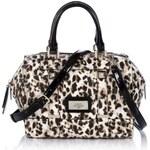Guess Jizelle Leopard Box Satchel Bag