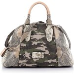 Guess Finley Dome Satchel Canvas Bag
