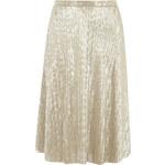 DP Zlatá plisovaná midi sukně