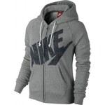 Nike RALLY FZ HOODY WEIS tmavě šedá XS
