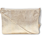 Tally Weijl Gold Snake Textured Clutch Bag