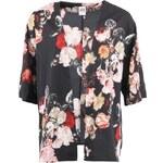 Černé kimono Vero Moda Winter Bloom