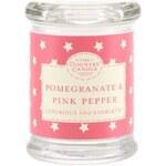 The Country Candle Company Malá svíčka ve skleničce The Country Candle Pomegranate & Pink Pepper