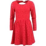 Červené krajkované šaty ONLY Fairy