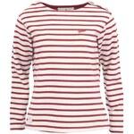 Bílé dámské triko s červenými proužky Brakeburn Bella