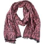 Růžový šátek s leopardím vzorem INVUU London