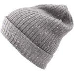 Šedá dámská pletená čepice s blýskavými kamínky INVUU London