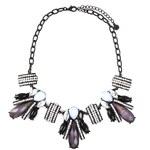 Černý náhrdelník Pieces Paola
