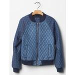 Gap Quilted Denim Varsity Jacket - Denim