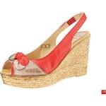 Marila sandály 121/CA-25 - červená/taupe